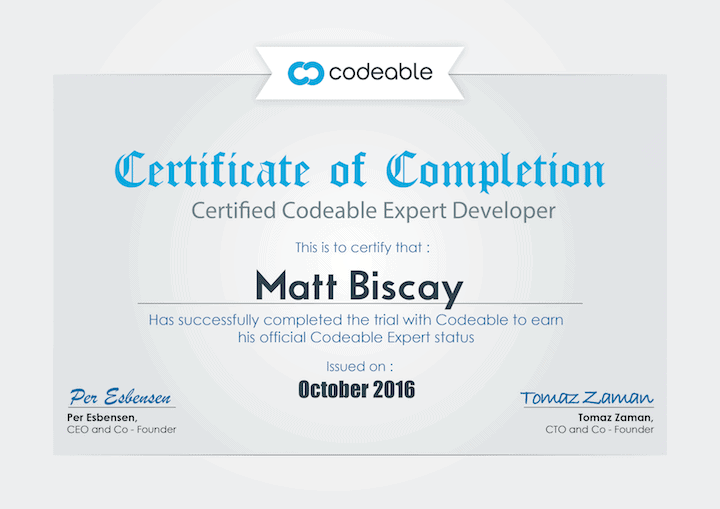 Certified Codeable Expert Developer