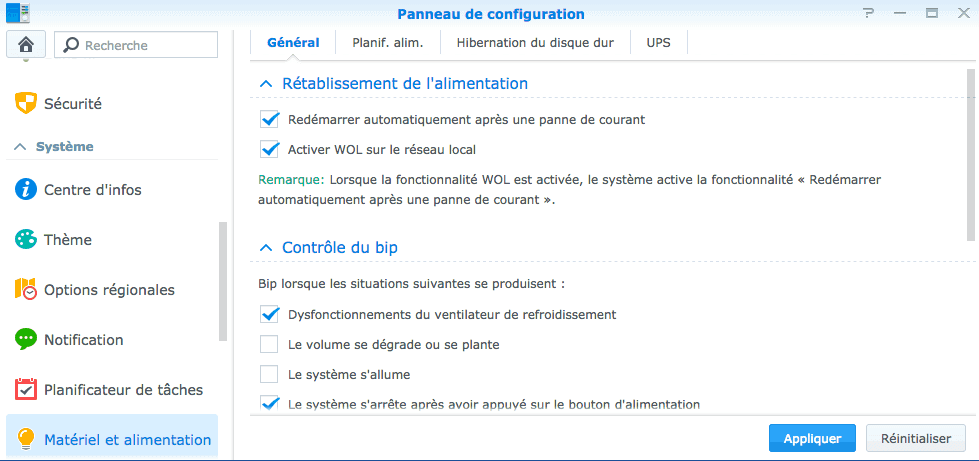 Démarrer votre NAS Synology à distance avec Wake On Lan photo