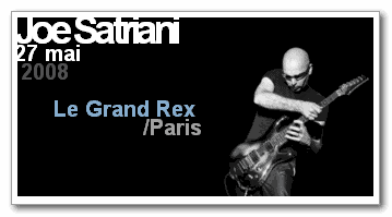 Joe Satriani au Grand Rex