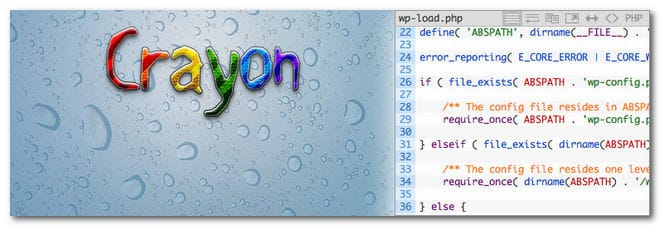 WordPress : afficher les accents dans des blocs texte colorisés par Crayon Syntax Highlighter photo