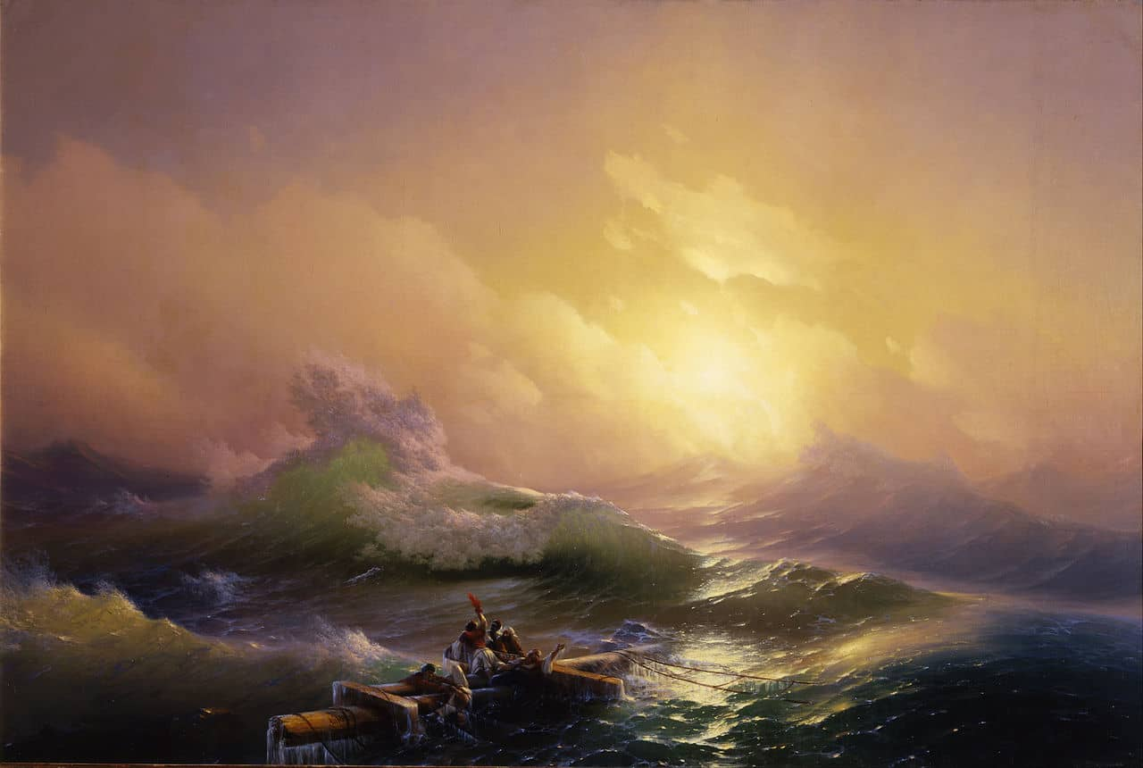 Ivan Aivazovsky - The Ninth Wave, 1850