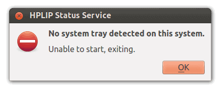 hplip no system tray HPLIP : résoudre lerreur no system tray detected on this system