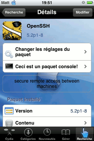 iphone ipod openssh Se connecter à un iPhone ou iPod Touch en SSH