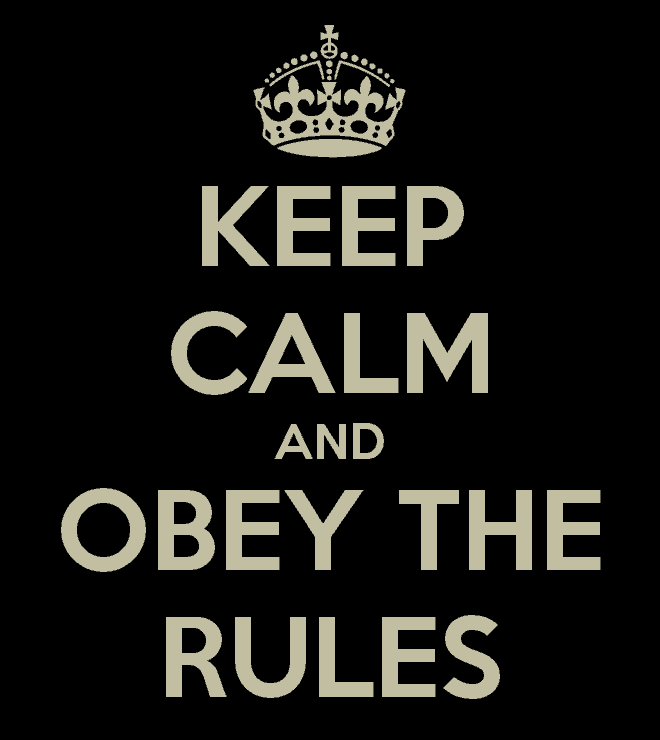 keep calm and obey the rules 24 Rules of the Internet
