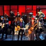 Prince, Tom Petty, Steve Winwood, Jeff Lynne and Dhanni Harrison - While My Guitar Gently Weeps photo