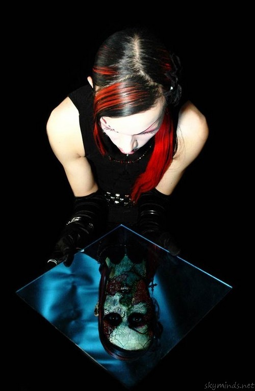 Reflection of a goth