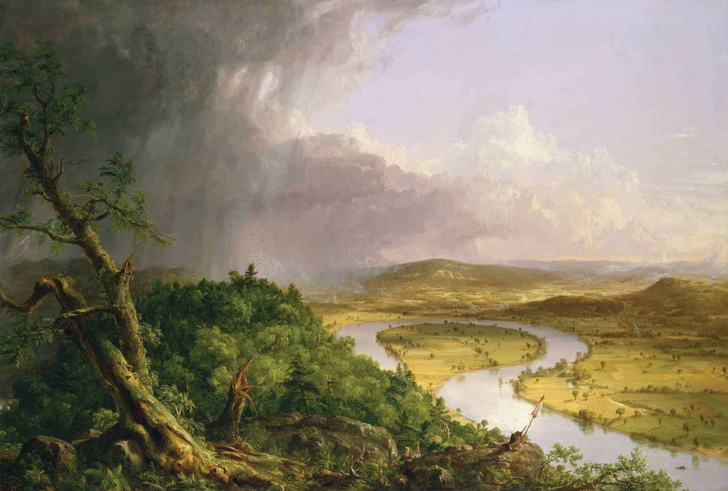 Thomas Cole – The Oxbow:  View from Mount Holyoke, Northampton, Massachusetts,  after a Thunderstorm (1836)