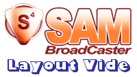 SAM Broadcaster : layout, plan de travail vide