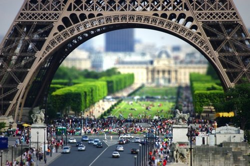 tour eiffel tilt-shift
