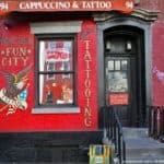 New York : St Mark's Place in East Village - Tattoo shop