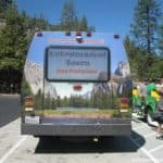 Our mini-bus could almost fade into the scenery