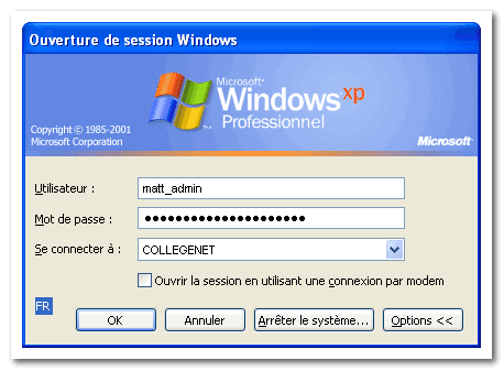 windows session box dialog